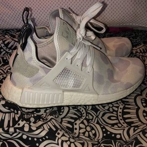 Size 9 white camo nmd